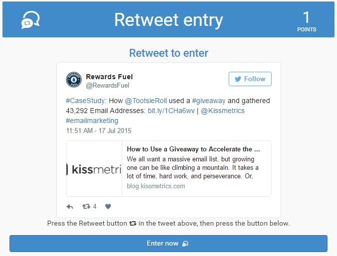 retweet Contest Entry