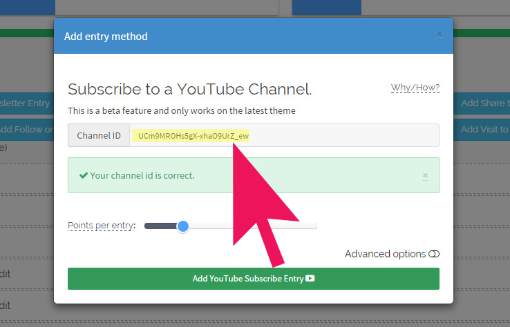 add Channel Id