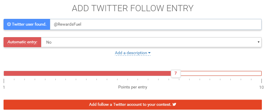 Add Twitter Follow Entry