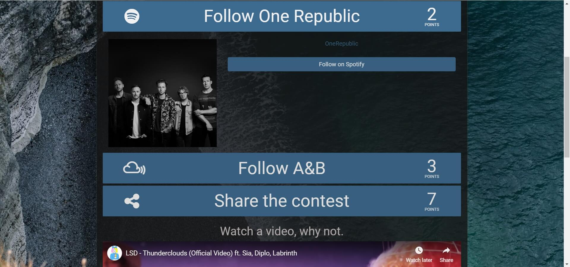 Contest app