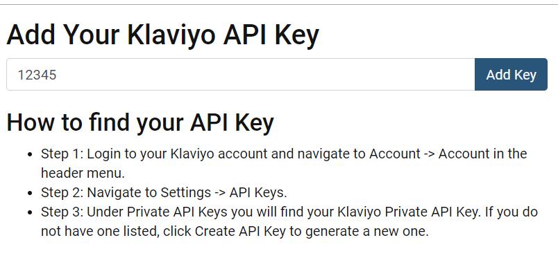 Add Klaviyo contest key