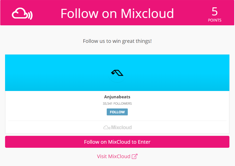 More Mixcloud Followers with Contests