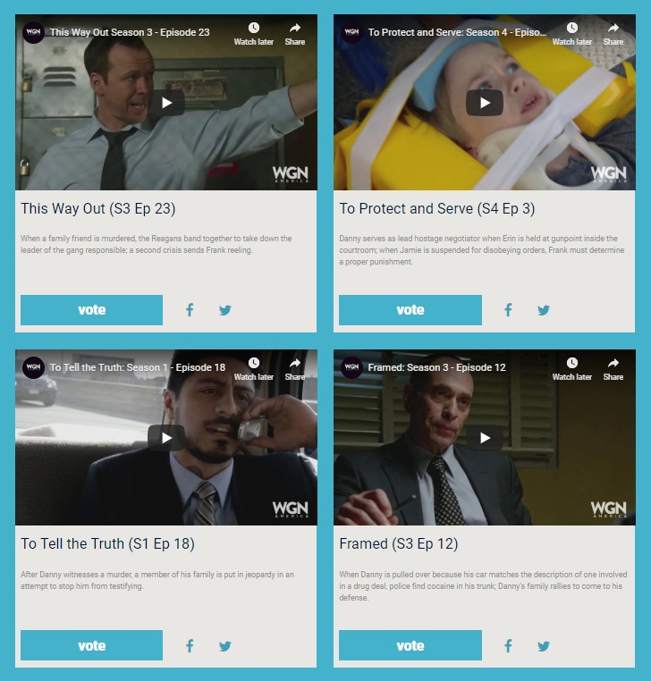 How the blue bloods rewards fuel video voting contest looked