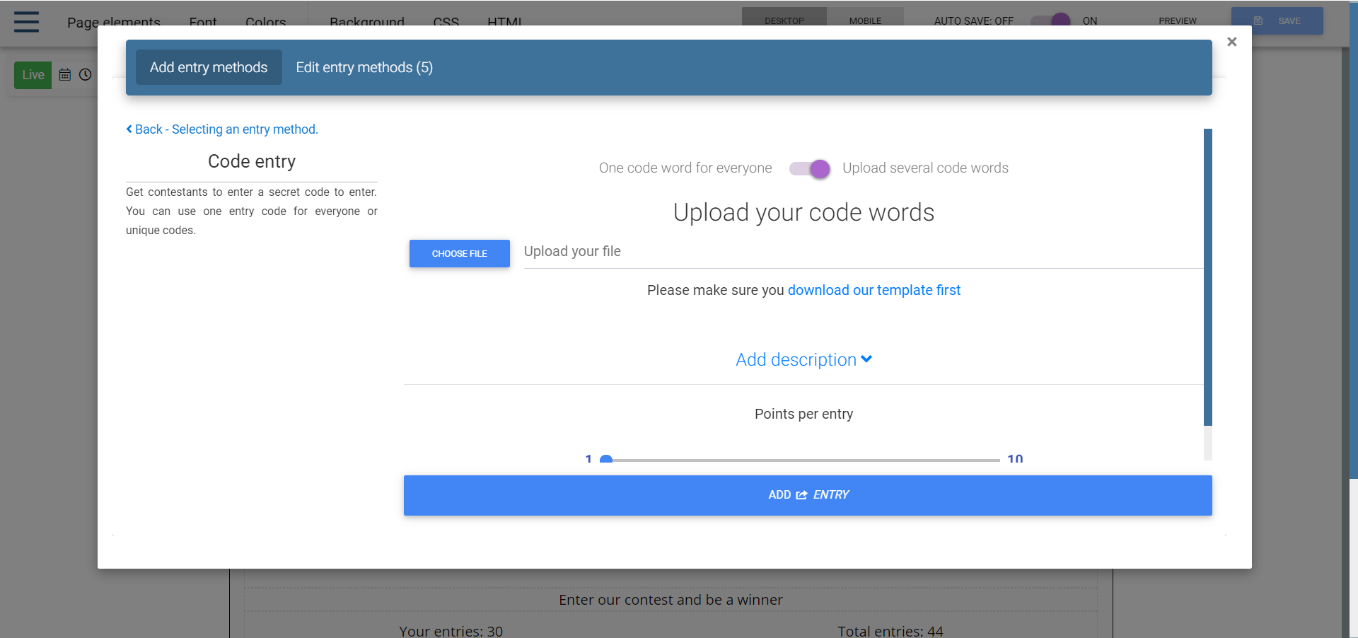 secret code contest