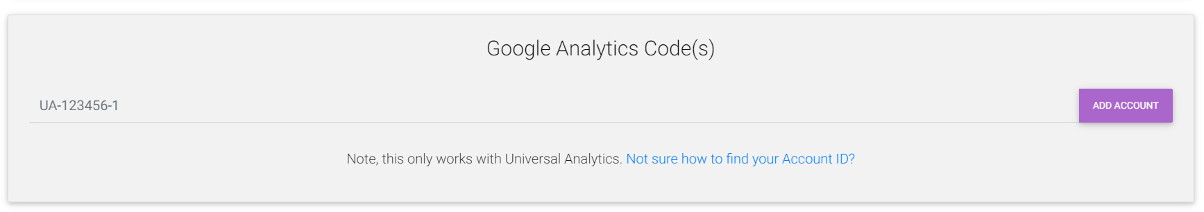 Add Google analytics tracking